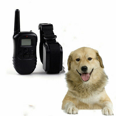 Dog Training Collar Electric Shock Collar With Remote 100M For Dogs LCD Vibrate