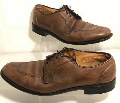 381875ba895 ALLEN EDMONDS HANCOCK Brown Leather Split Toe Oxfords Dress Shoes Mens Sz 11