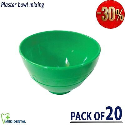 Dental Mixing Alginate Bowl Large Size Flexible Rubber Mixing Plaster pack of 20