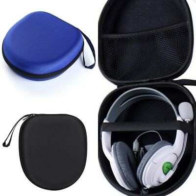 Black Hard Headset Carry Pouch Box Headphone Earphone Case Bag Storage Pouch BA