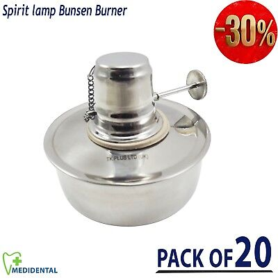 Dental Lab Jewellers Alcohol Spirit Lamp Bunsen Stove Burner Flame Lab Tools New
