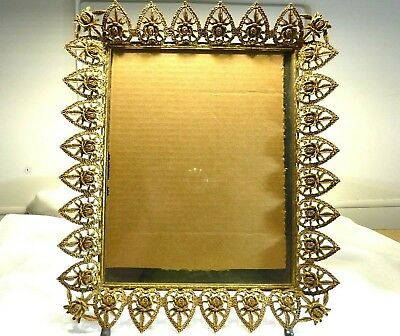 Collectable Vintage Ormolu Filigree 1940's-1960's Ornate Picture Frame