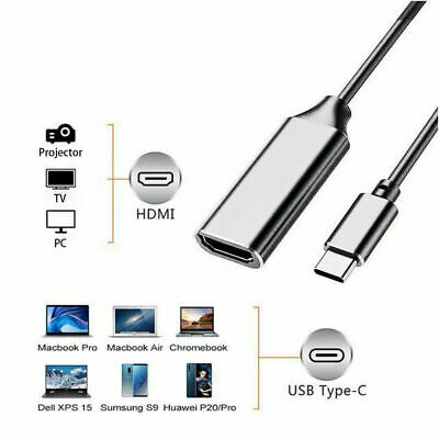 Type-C USB to HDMI Adapter Cable Converter For PC and Mobile Phone Macbook