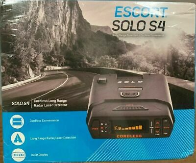 Escort Solo S4 Cordless OLED Display Long Range Laser Radar Detector Voice Alert