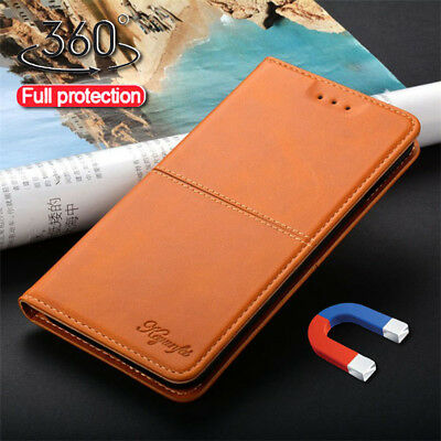 For Xiaomi Mi 8 Lite A2 Lite Vintage Business Leather Flip Magnetic Case Cover