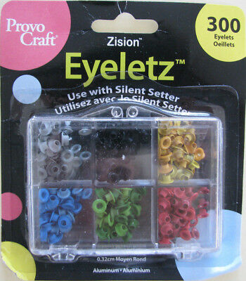 300pk Zision Aluminium Eyelets - Winter Set