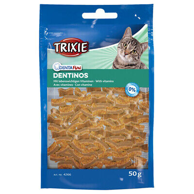 Trixie Denta Amusement Dentinos 50 G, Snack pour Chats, Neuf