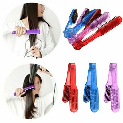 Fashion High Quality Hair Straightening Brush Double Clamp Comb Hairdressing
