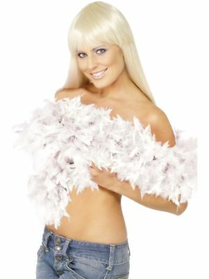 Deluxe Quality Feather Boa Boas 20s Charleston Fancy Dress 80Gm 1.8m Snow White