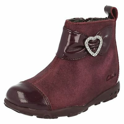 Clarks Girls Diamante Heart Detail Boots Ella Lady