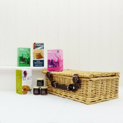 This Fantastic Wicker Basket Is Filled with Gourmet Foods for Velentine Day Gift