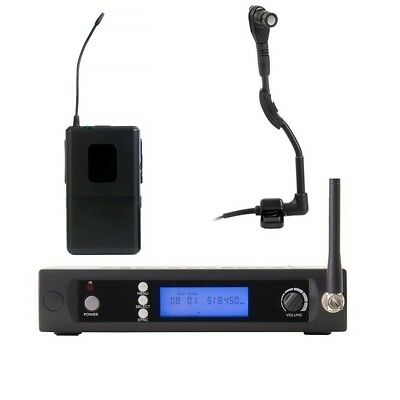 UHF Wireless Instrument Microphone for Saxophone Tuba Trumpet for Shure Wireless