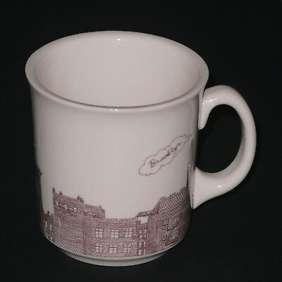 18b3e51df23 Jordan Awan Brooklyn New York City Fishs Eddy Coffee Mug ~ Excellent  condition