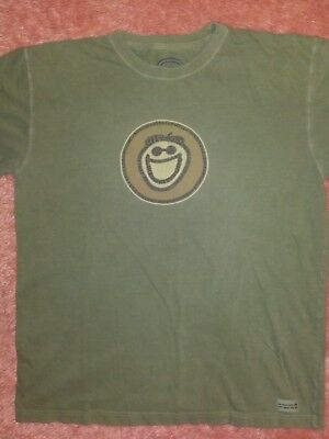 4af136ec3cc LIFE IS GOOD Mens Short Sleeve Crusher T Shirt Size L Sage Green ...