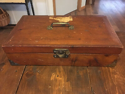 ANTIQUE 1800's HANDMADE DOCTORS HOUSE CALL MEDICAL CASE  -  POSSIBLY MILITARY