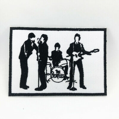 The Beatles Black White Logo Music Pop Rock Band Embroidered Iron On Patch 169