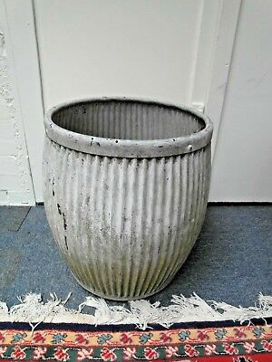 Original Vintage Ribbed Galvanised Dolly Tub-Sound Condition-Ideal As Planter/2