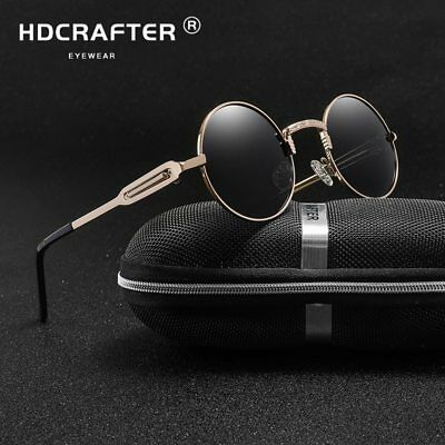 4cf1d451a4 Sunglasses men Polarized Round Metal Steam Punk Sung Lasses Women Mirrored  Gl..