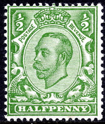 1912 ½d SG344 Green Downey Head Simple Cypher Wmk Lightly Mounted Mint