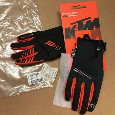 Genuine KTM Racetech WP Black & Orange MX Enduro Gloves XXL 12 3PW200003006