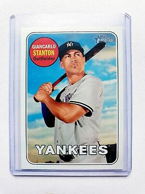2018 Topps Heritage Giancarlo Stanton Colour Change SP