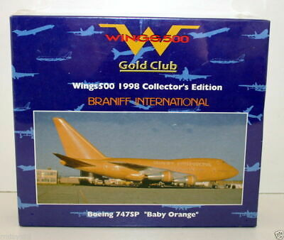 Herpa 1/500 - 511605 Boeing 747Sp Braniff International 'Baby Orange'