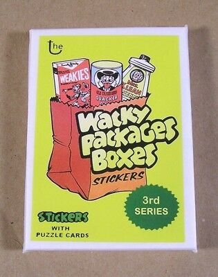 2018 Lost Wacky Packages Boxes 3rd Series COMPLETE SET 9/9 UNOPENED PACK mint