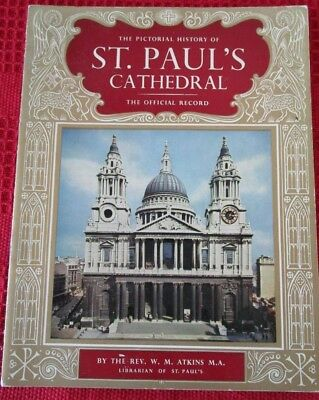 St Paul/'s Cathedral 1950s London Vintage Style Travel Poster 20x30