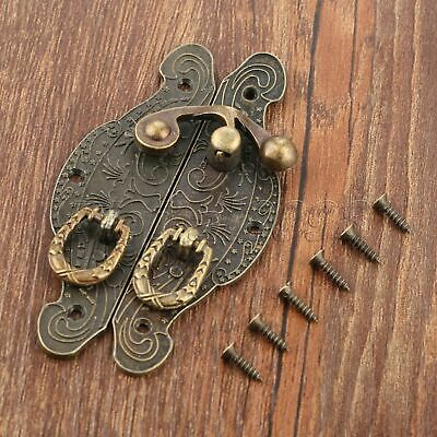 Antique Bronze Gift Jewelry Box Case Latch Hasp Buckle Toggle Catch Clasp Hook