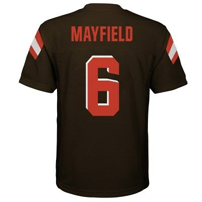 (2018-2019) Cleveland Browns BAKER MAYFIELD nfl Jersey YOUTH KIDS BOYS (s-small)