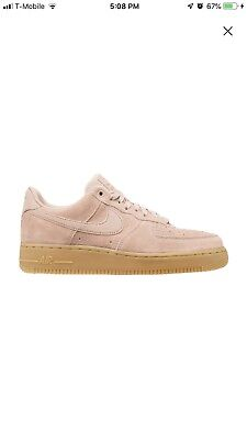 Nike Air Force 1  07 LV8 Suede Casual Shoes Particle Pink AA1117-600 Men s 3a1005df4