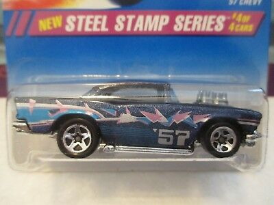 Hot Wheels '57 Chevy Steel Stamp Series 1994 Mint In Blister