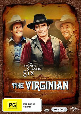 THE VIRGINIAN - COMPLETE SEASON 6 - DVD - UK Compatible - Sealed