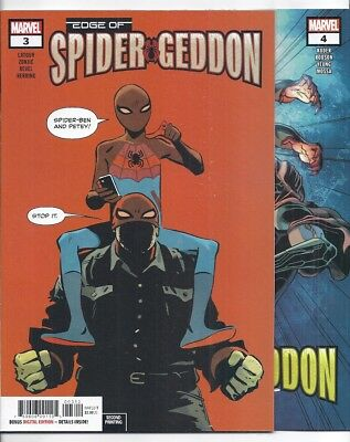 (2018) EDGE OF SPIDER-GEDDON #1 2 3 4 (of 4) SECOND PRINTING VARIANT COVER LOT!