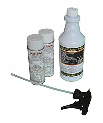 Pro Clean Mold Remediation Kit - 2 cans of Mold Bomb Fogger & 1 qt BioCide 100