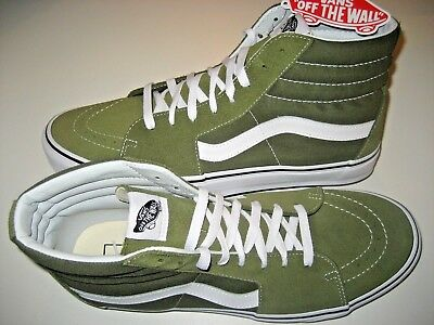 Vans Womens Sk8-Hi Winter Moss Green White Canvas Suede Skate Shoes Size  6.5 NWT ac962b03b