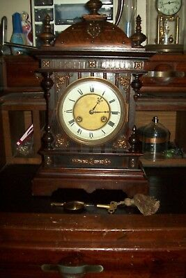 Antique German Junghans  Mantle Clock Working