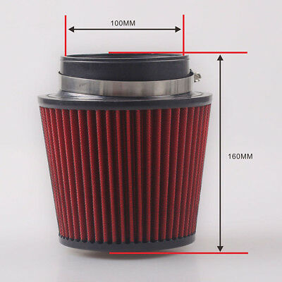 100mm Engine Air Filter Mushroom Intake Pipe Head Flow Cold High Inlet Air Cone