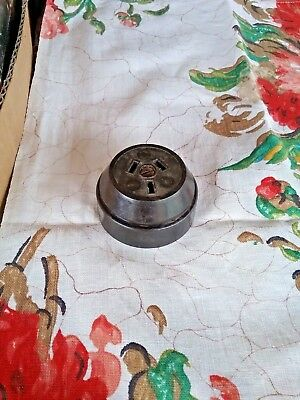 Ring Grip Brown Bakelite Round Power Point #15570