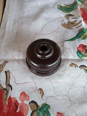 Ring Grip Brown Bakelite Ceiling Rose #15575