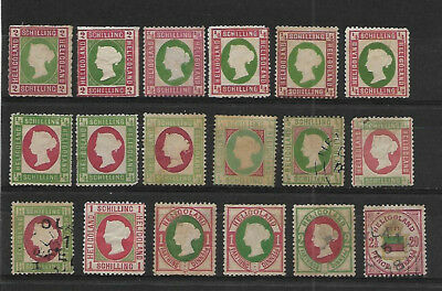 Heligoland - Small Lot Of Mixed Values And Conditions. Mint And Used.