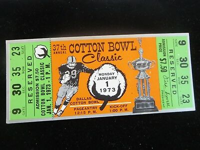 Jan 1 1973 Cotton Bowl Texas Longhorns Vs Alabama Crimson Tide
