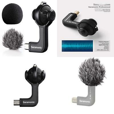 Saramonic G-Mic Stereo Ball Microphone With Foam  Furry Windscreens For Gopro H