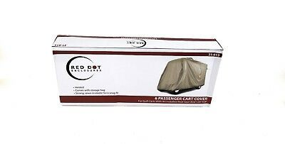 Red Dot Cart Cover 6 Passenger Tan New Style Vented Made In the USA