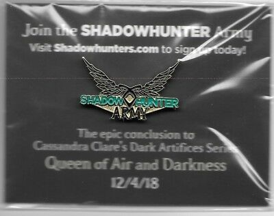 The Dark Artifices, Cassandra Clare (Shadowhunters), Shadowhunter Army Lapel Pin