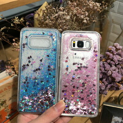 For Samsung Galaxy S9/8/7 S10 A6 A7 2018 Bling Glitter Quicksand Soft Case Cover