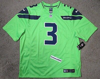 NWT Nike Seattle Seahawks Color Rush Limited Jersey RUSSELL WILSON  3 Sz 2XL 25edff578