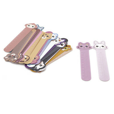Animal Paper Bookmarks 30Pcs Convenient Holder Ruler Stationery Gifts School BC