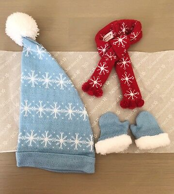 American Girl Maryellen's Ice Skating Accessories 18 inch Doll Hat Mittens Scarf