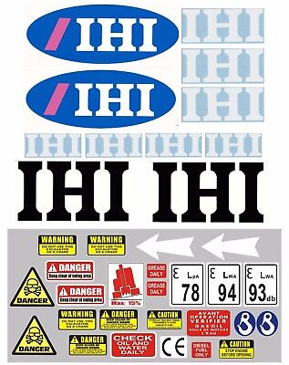 Decal Sticker set for: 1.5 ton IHI Mini Diggers Bagger Pelle Autocollant